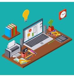 Creative process web design vector