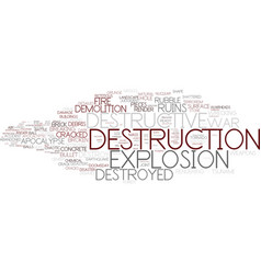 Destructive word cloud concept vector