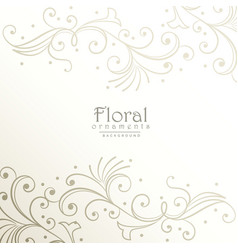 Elegant floral decoration background design vector