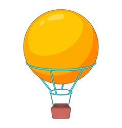 Flying round balloon icon cartoon style vector