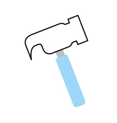 Hammer tool isolated icon vector