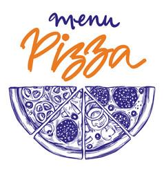 Italian pizza set pizza design template logo vector