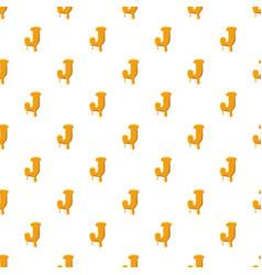 Letter j from honey pattern vector
