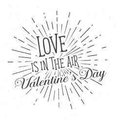 Love is in the air text and lettering vector