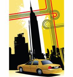 ny background with taxi image vector image