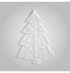 Paper openwork tree vector image vector image