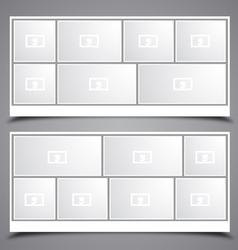 Photo collage frames vector