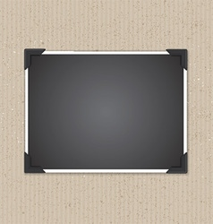 photo frame on cardboard texture 1207 vector image vector image