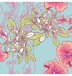 Seamless floral background with peonies vector image vector image