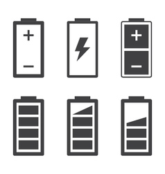 Set of simple battery icons and symbols vector image vector image
