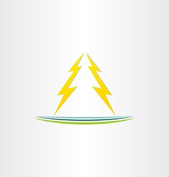 Thunder symbol abstract design vector