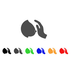 touch female breast icon vector image
