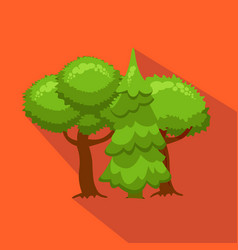 Trees and fir in nature hunting season flat vector