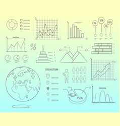 visual representation of data in graphics outline vector image vector image