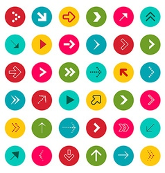 Arrow Signs Arrows in Colorful Circles vector image