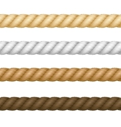 Different thickness rope set vector