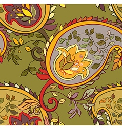 Paisley seamless background vector