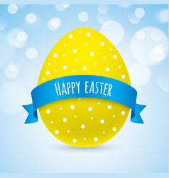 Colorful easter greeting card design vector