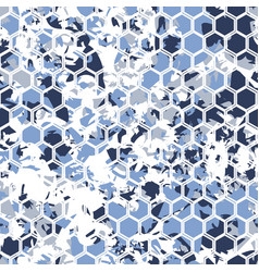 Digital hexagonal blue pattern vector