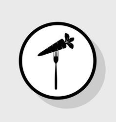 vegetarian food sign   flat vector image