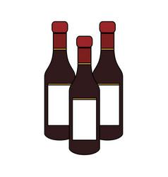 Liquor bottle icon image vector