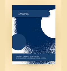 Brochure grunge texture layout vector