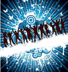 grunge party people vector image