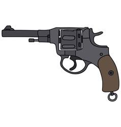 Old revolver vector