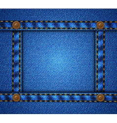 Jeans frame with buttons vector