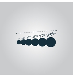 Simple icon graphics growth vector