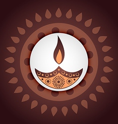 Indian festival of diwali vector