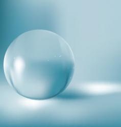 3d glass ball vector image