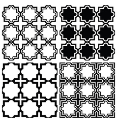 Arabic seamless pattern set - islamic design vector
