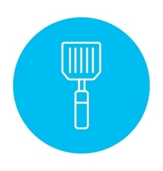 Kitchen spatula line icon vector