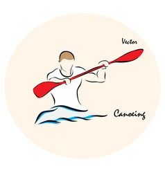 Canoeing vector