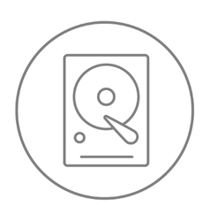 Hard disk line icon vector