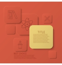 modern square e-learning coaching vector image