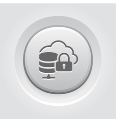 Cloud secure storage icon flat design vector