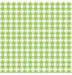 Abstract green flower seamless pattern background vector
