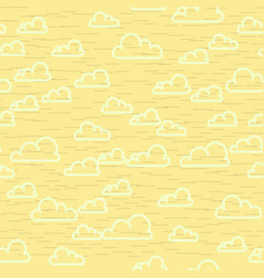 Abstract yellow cloudy sky seamless pattern vector