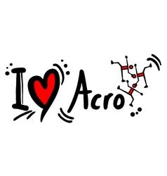 Acro love symbol vector