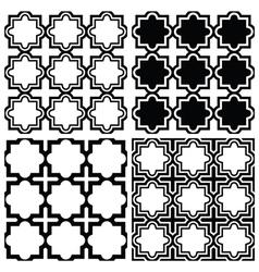 Arabic seamless pattern set - Islamic design vector image vector image