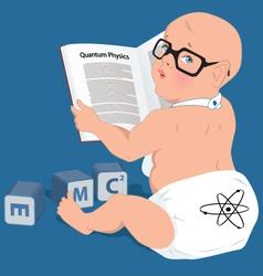 Baby genius vector image vector image