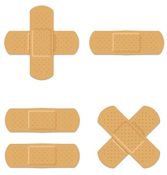 Band aids vector