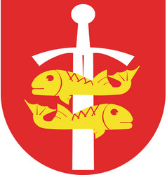 Coat of arms of gdynia in the pomeranian vector