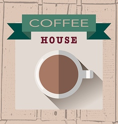 Coffee house logoin flat design style on vector