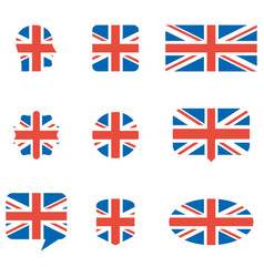 english flag icons vector image