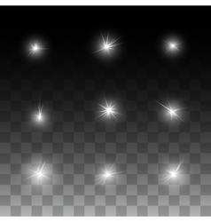 Glow shine stars vector image vector image