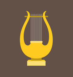 Harp or lyre flat design vector
