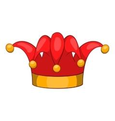 Jester hat icon cartoon style vector